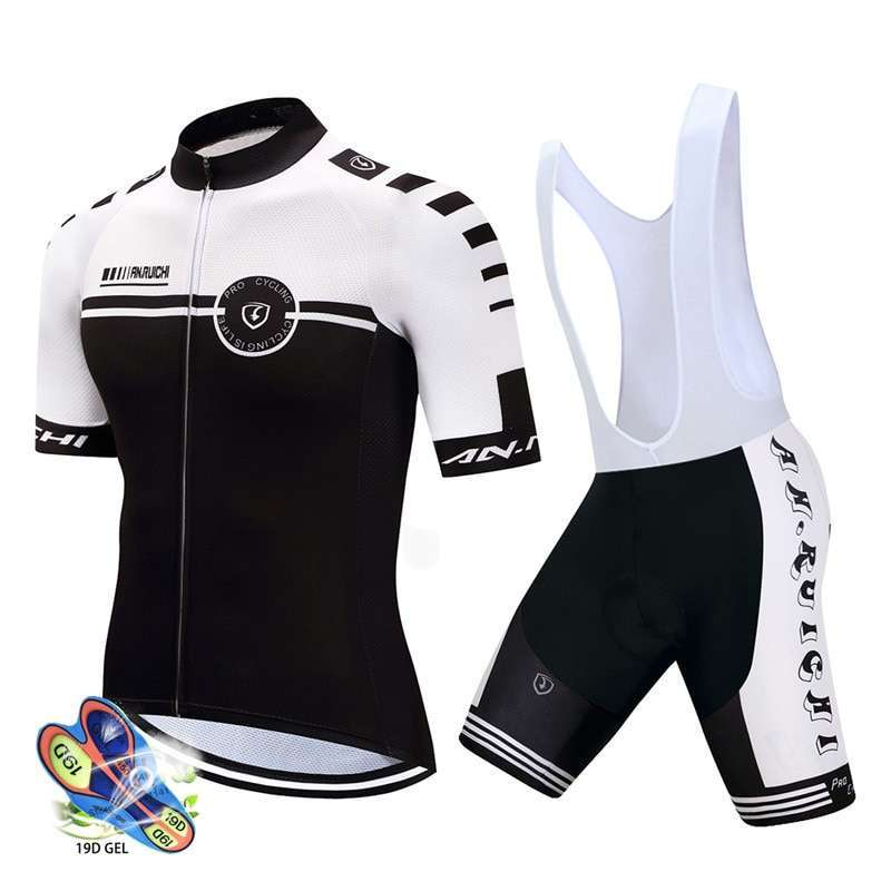 2019 Pro team cycling jersey set men bicycle maillot MTB Racing ropa Ciclismo summer quick dry
