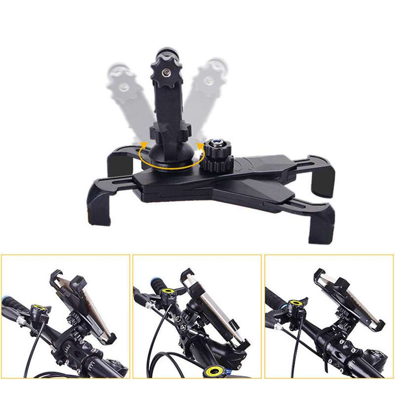 360 Universal Bike Bicycle Cycling Mount Holder Bracket For 3 5 7 Cell Phone GPS Adjustable 3