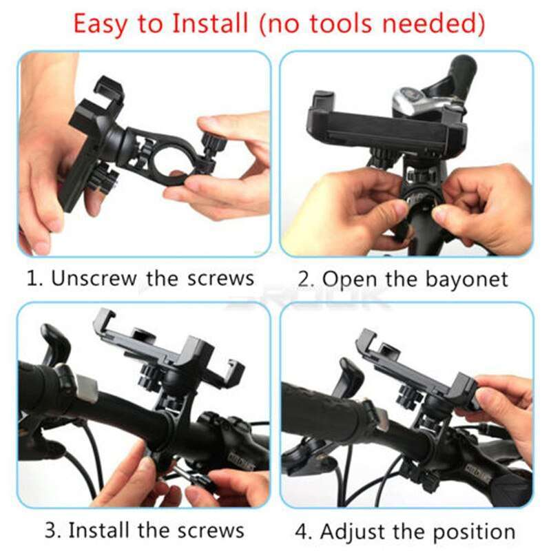 360 Universal Bike Bicycle Cycling Mount Holder Bracket For 3 5 7 Cell Phone GPS Adjustable 5