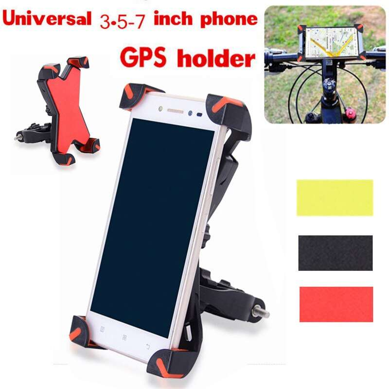 360 Universal Bike Bicycle Cycling Mount Holder Bracket For 3 5 7 Cell Phone GPS Adjustable