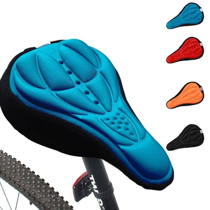 3D Bike Seat Cover Bicycle Soft Saddle Comfortable Foam Seat Cushion Cycling Saddle for Bicycle Bike 1
