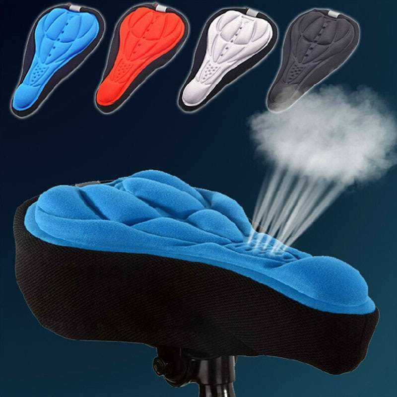 3D Bike Seat Cover Bicycle Soft Saddle Comfortable Foam Seat Cushion Cycling Saddle for Bicycle Bike