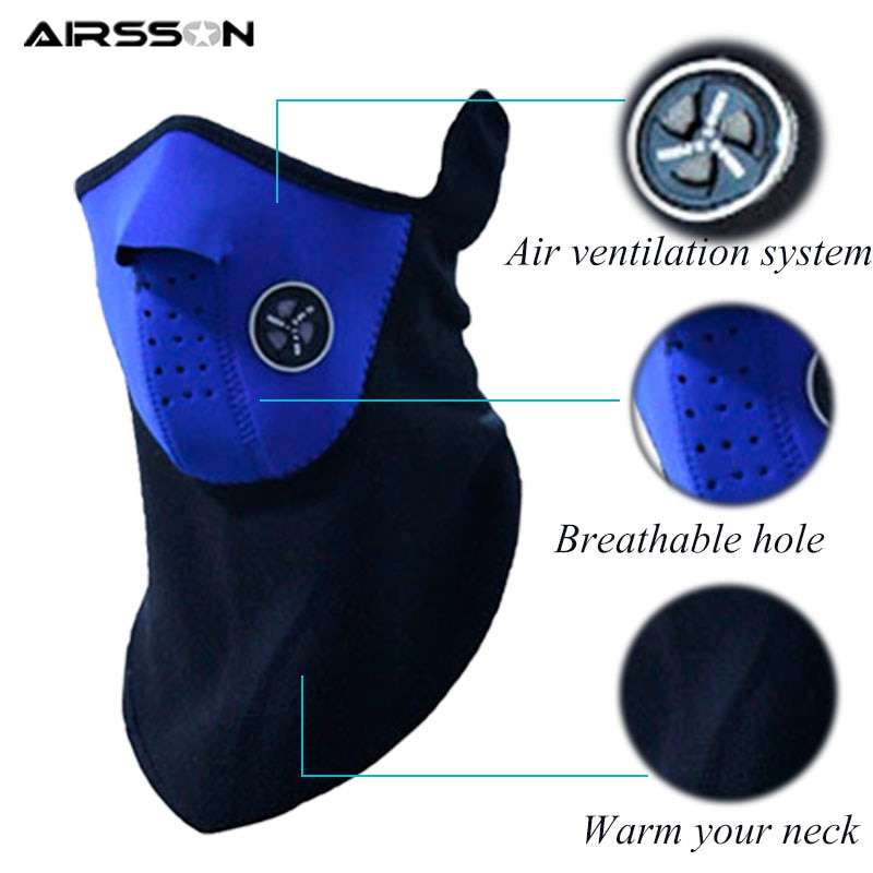 Airsoft Warm Fleece Bike Half Face Mask Cover Face Hood Protection Cycling Ski Sports Outdoor Winter 1