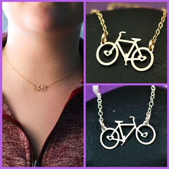 Bike Necklace Bicycle Jewelry Bike Charm Necklace Cycling Gift Biker Gift Triathlon Gift Gift Her