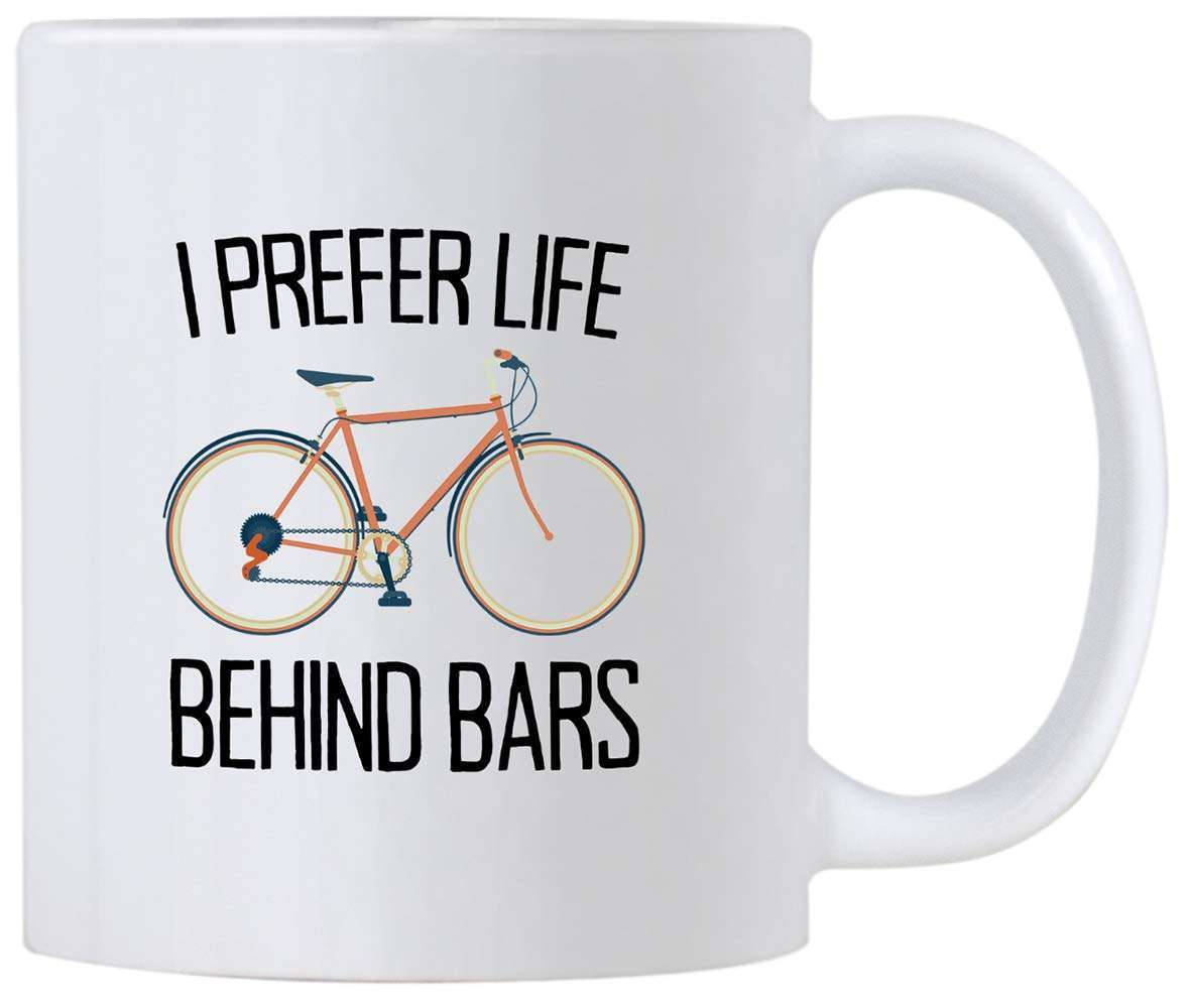 Casitika Cycling Gifts for Men and Women I Prefer Life Behind Bars Humorous Bicycle Novelty 11