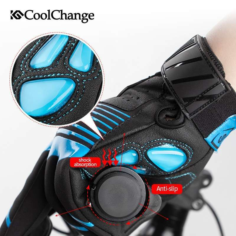 CoolChange Bicycle Gloves Winter Thermal Waterproof Bike Gloves Long Finger Touch Screen Wrist Buckle Cycling Gloves 3
