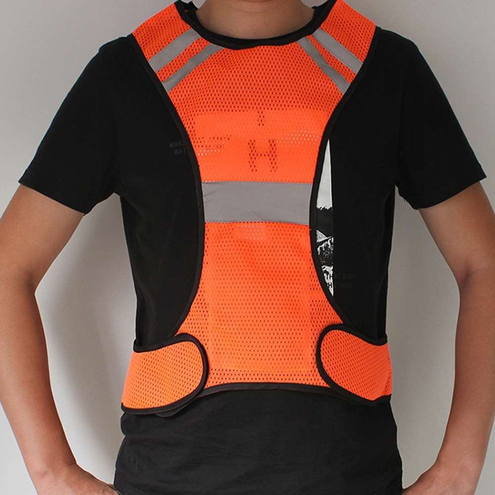Cycling Reflective Vest LED Running Outdoor Safety Jogging Breathable High Visibility Reflective Warning Stripes Riding Vest 10