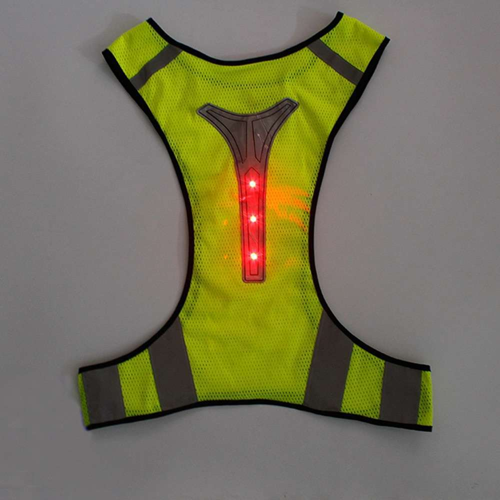 Cycling Reflective Vest LED Running Outdoor Safety Jogging Breathable High Visibility Reflective Warning Stripes Riding Vest 11