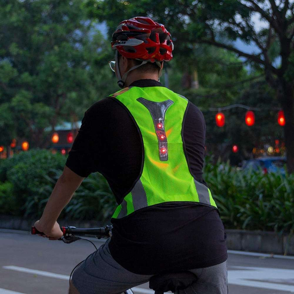 Cycling Reflective Vest LED Running Outdoor Safety Jogging Breathable High Visibility Reflective Warning Stripes Riding Vest 6