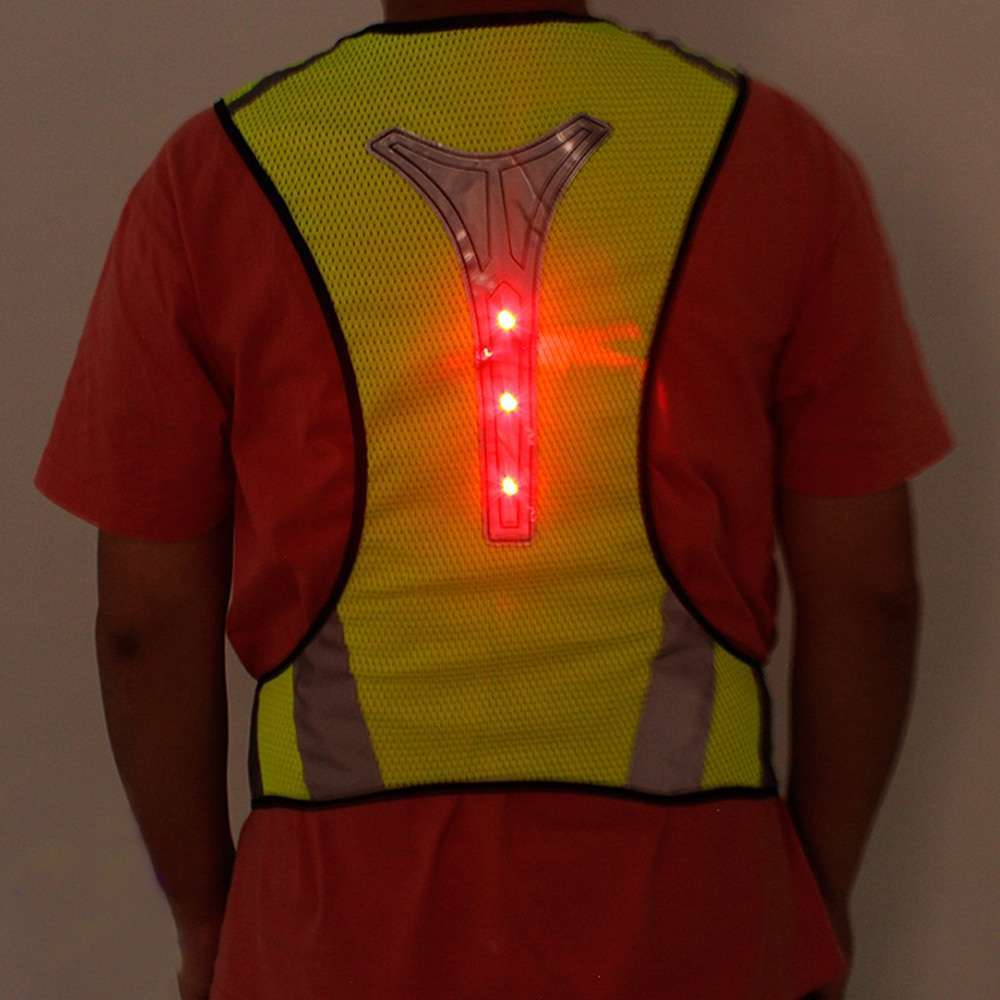 Cycling Reflective Vest LED Running Outdoor Safety Jogging Breathable High Visibility Reflective Warning Stripes Riding Vest 9