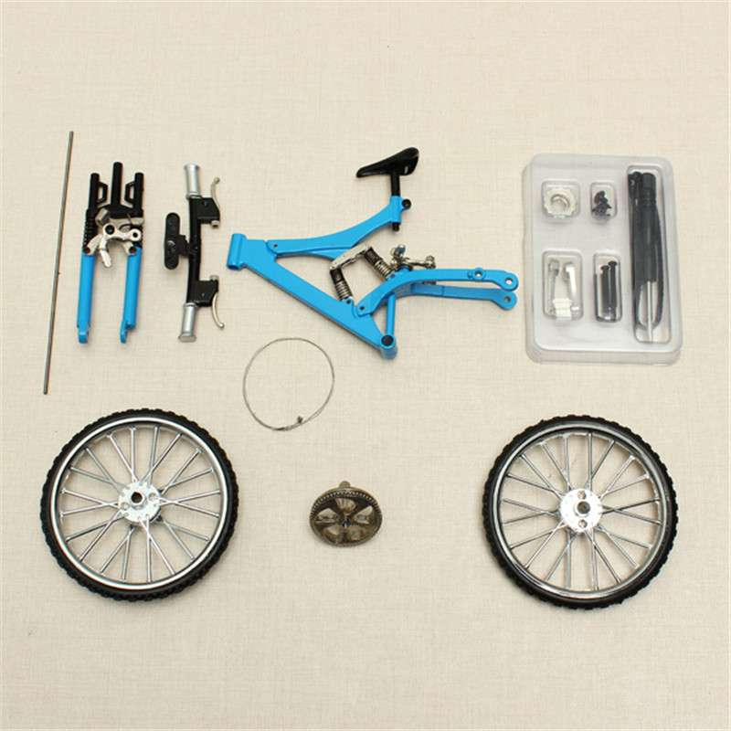 DIY Mini Bike Model Simulation Alloy Mountain Road Bicycle Set Decoration Gift Model Toys For Childern 1