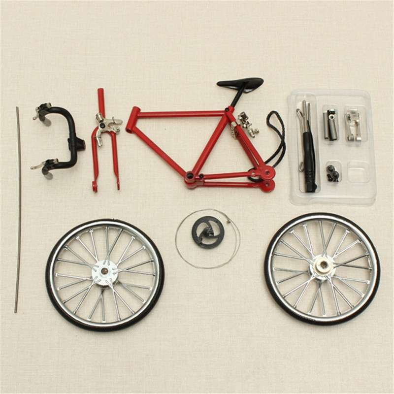 DIY Mini Bike Model Simulation Alloy Mountain Road Bicycle Set Decoration Gift Model Toys For Childern 3