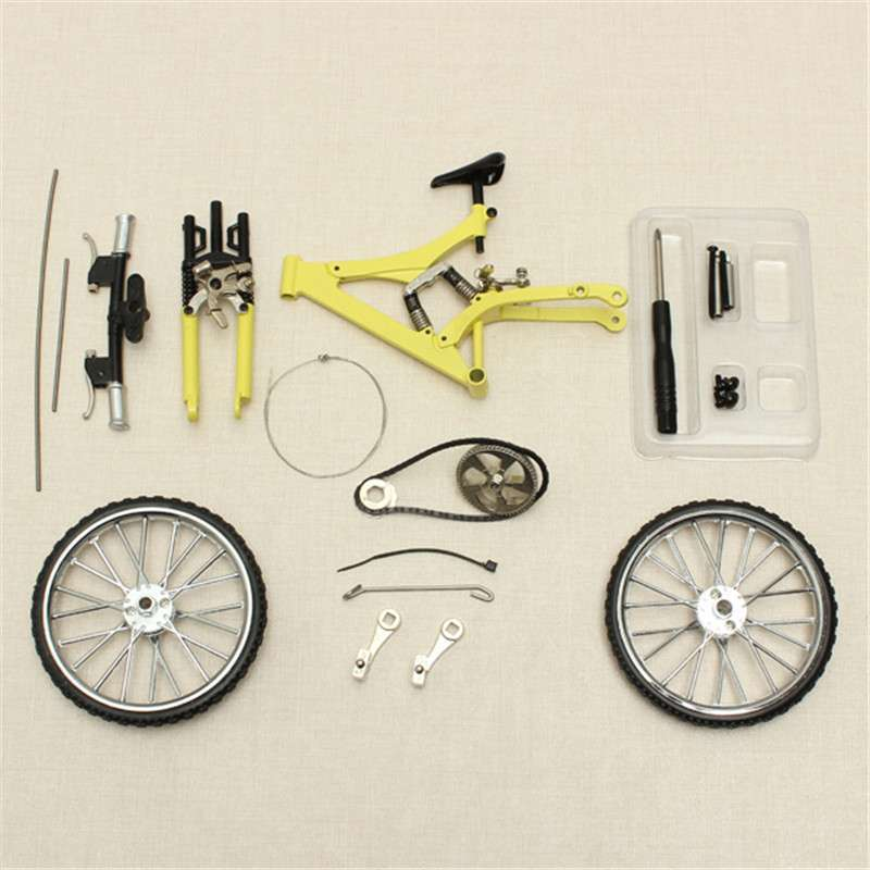 DIY Mini Bike Model Simulation Alloy Mountain Road Bicycle Set Decoration Gift Model Toys For Childern 4