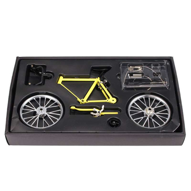 DIY Mini Bike Model Simulation Alloy Mountain Road Bicycle Set Decoration Gift Model Toys For Childern 5
