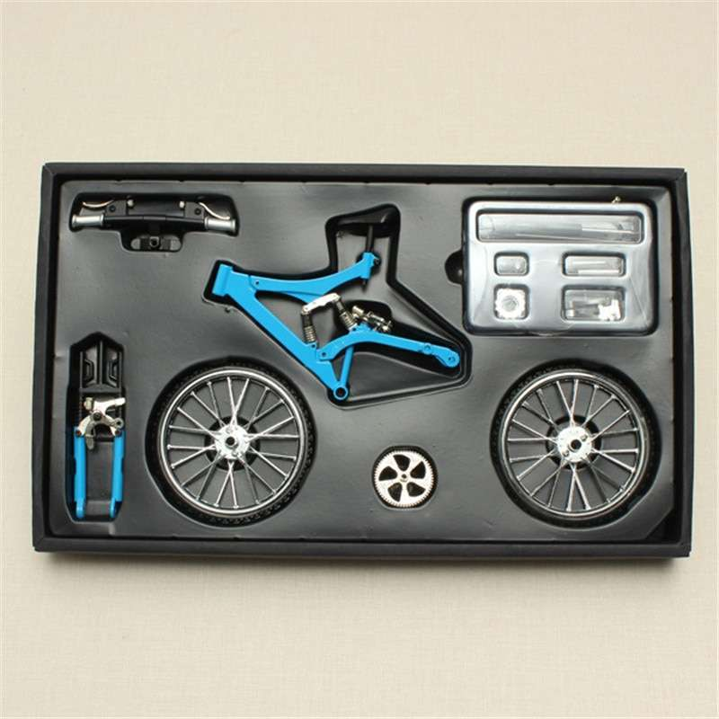 DIY Mini Bike Model Simulation Alloy Mountain Road Bicycle Set Decoration Gift Model Toys For Childern
