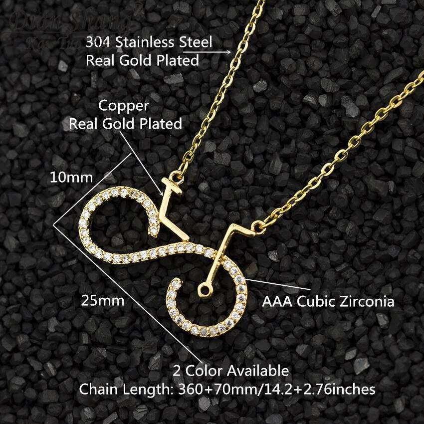 Fashion Bike Pendant Necklaces Cycling Necklace Women Men Charms Body Bicycle Sports Jewelry For Women Men 1
