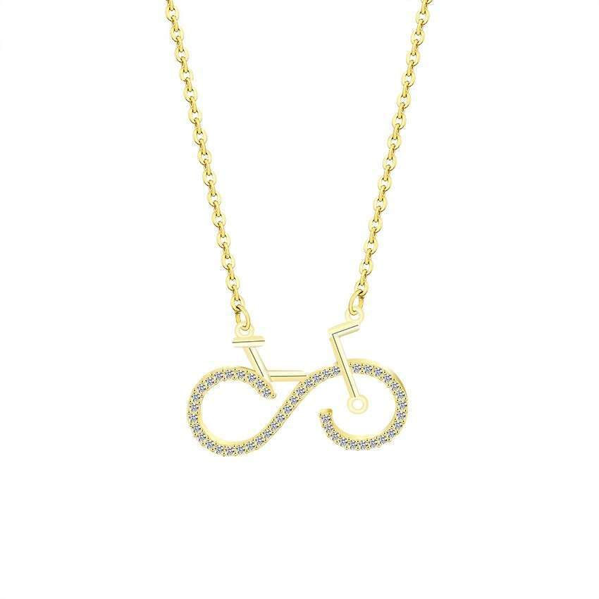 Fashion Bike Pendant Necklaces Cycling Necklace Women Men Charms Body Bicycle Sports Jewelry For Women Men 2