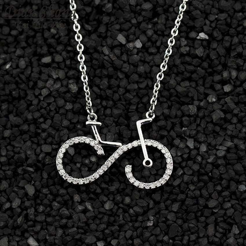 Fashion Bike Pendant Necklaces Cycling Necklace Women Men Charms Body Bicycle Sports Jewelry For Women Men 3