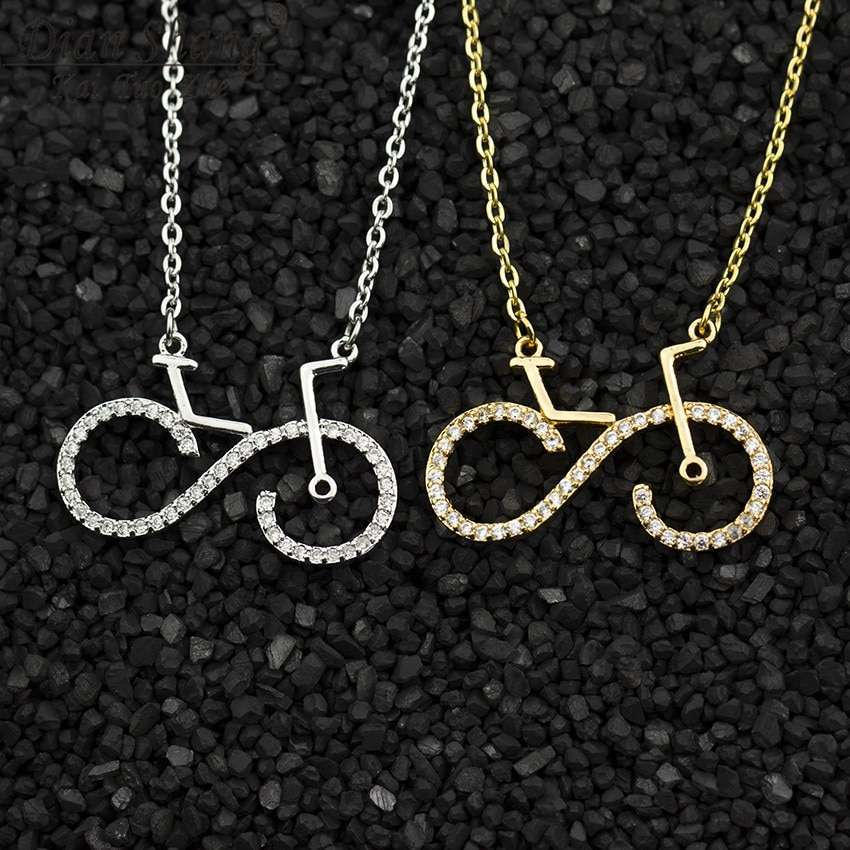 Fashion Bike Pendant Necklaces Cycling Necklace Women Men Charms Body Bicycle Sports Jewelry For Women Men