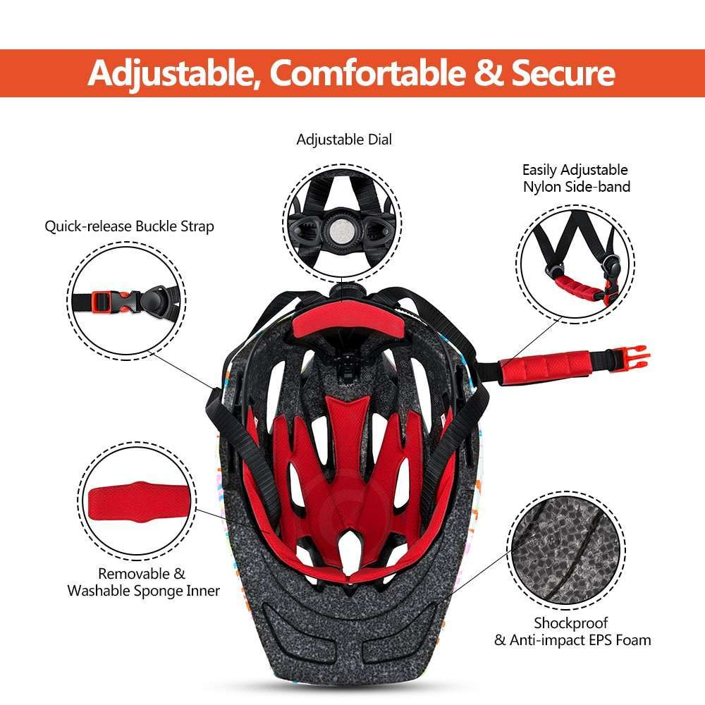 Ftiier Kid LED Mountain Mtb Road Bicycle Helmet Detachable Pro Protection Children Full Face Bike Cycling 2