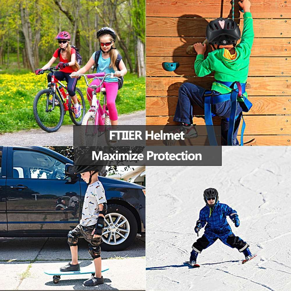Ftiier Kid LED Mountain Mtb Road Bicycle Helmet Detachable Pro Protection Children Full Face Bike Cycling 5