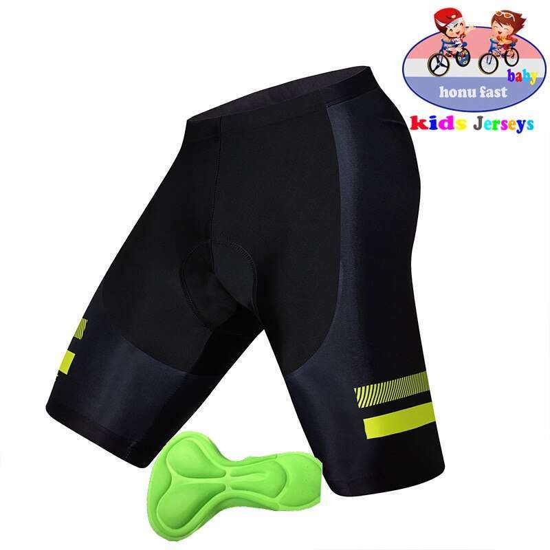 High Quality kids Bicycle Comfortable Underwear Sponge Gel 3D Padded Bike child Short Pants Cycling Shorts 3