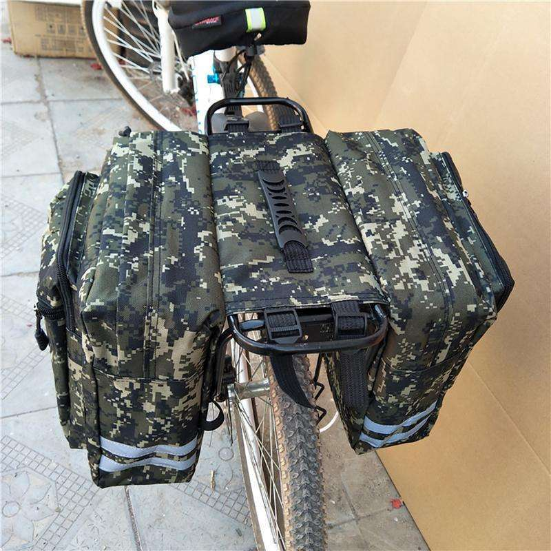 Mountain Road Bicycle Bike 2 In 1 Camo Trunk Bags Cycling Double Side Rear Rack Tail 1