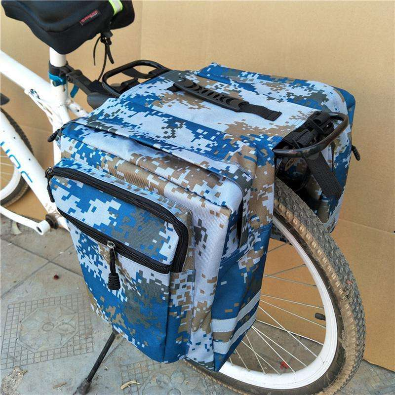 Mountain Road Bicycle Bike 2 In 1 Camo Trunk Bags Cycling Double Side Rear Rack Tail 3