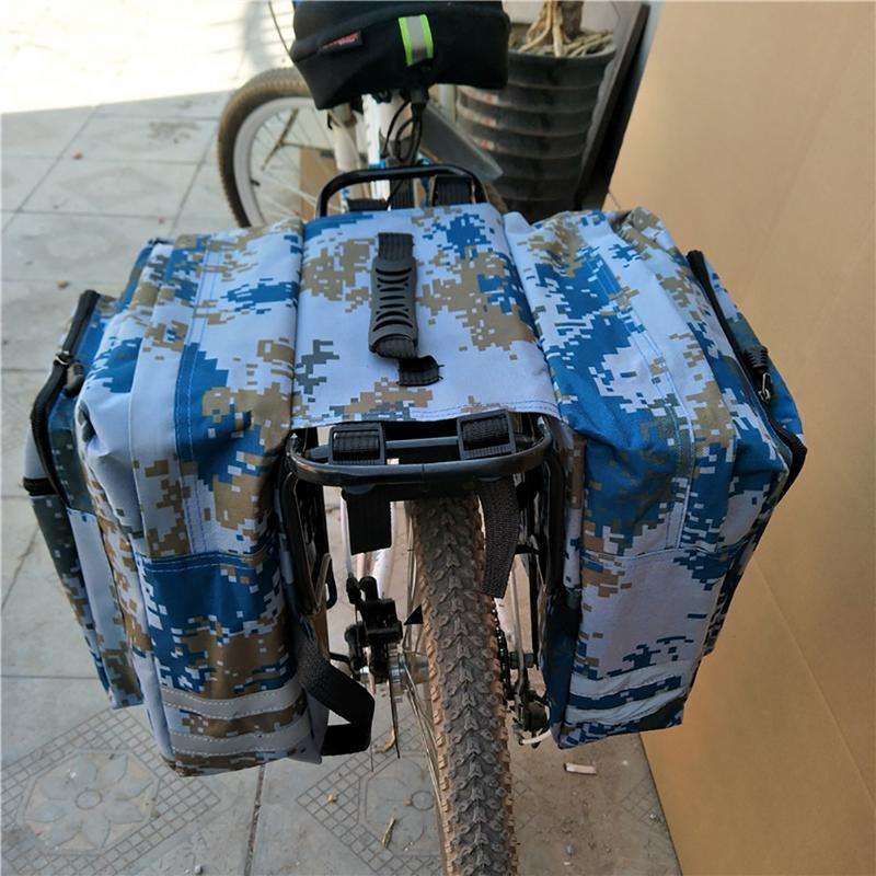 Mountain Road Bicycle Bike 2 In 1 Camo Trunk Bags Cycling Double Side Rear Rack Tail 4