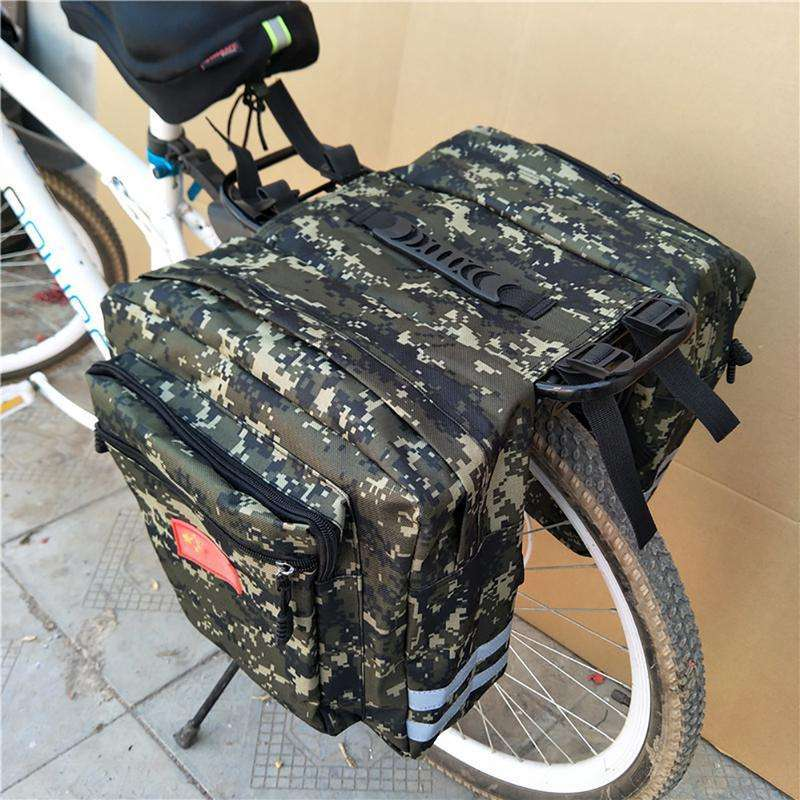 Mountain Road Bicycle Bike 2 In 1 Camo Trunk Bags Cycling Double Side Rear Rack Tail