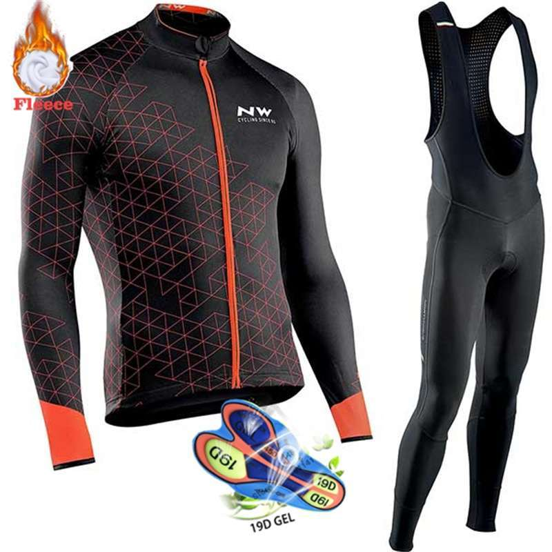 Northwave Warm 2019 Winter Thermal Fleece Cycling Clothes NW Men s Jersey Suit Outdoor Riding Bike 1