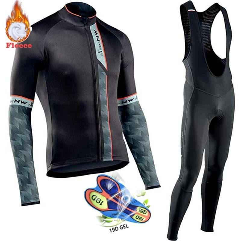 Northwave Warm 2019 Winter Thermal Fleece Cycling Clothes NW Men s Jersey Suit Outdoor Riding Bike 2