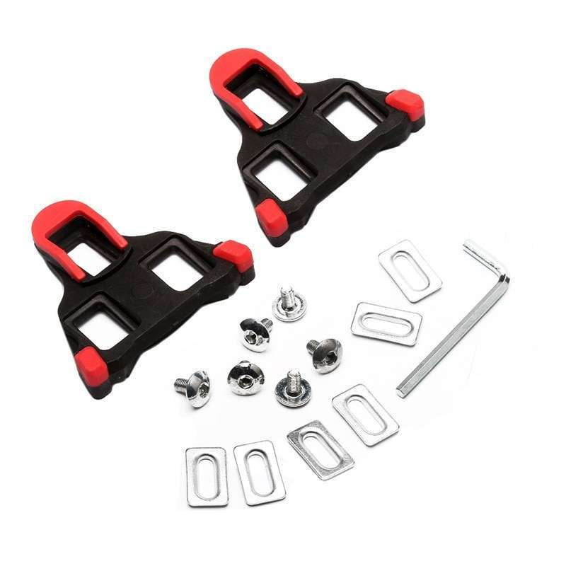 One set 2 x Bicycle Bike Self locking Pedal Cleats Set Yellow road Mountain Outdoor Cycling 2