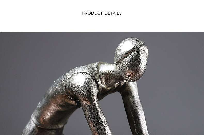 Resin Cycling Abstract Character Statues Figurines Ornaments Sculpture Crafts Home Office Decoration Accessories Wedding Gift 5