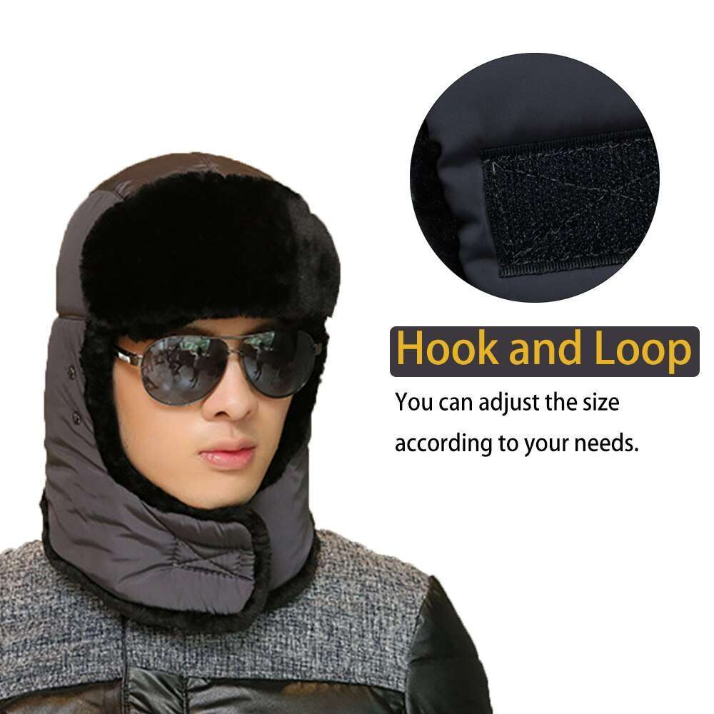 Thicken Winter Hat Men Women Bomber Hats Thermal Full Face Mask Neck Guard Warm Earflap Outdoor 3