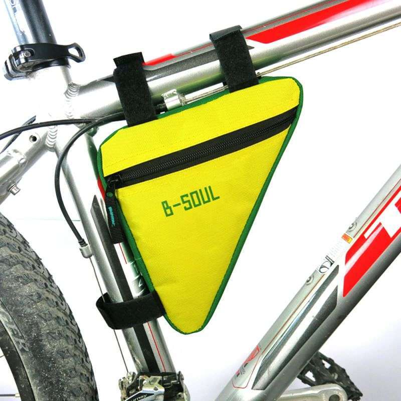 Waterproof Triangl Cycling Bicycle Bags Front Tube Frame Bag Mountain Triangle Bike Pouch Holder Saddle Bag 1