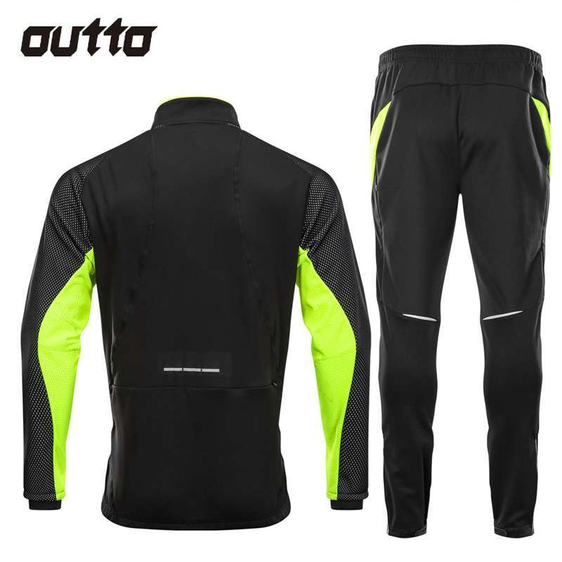 Winter Warm Fleece Riding Jacket And Pant Windproof Thermal Outdoor Sportswear Waterproof Man Racing Bicycle Cycling 4