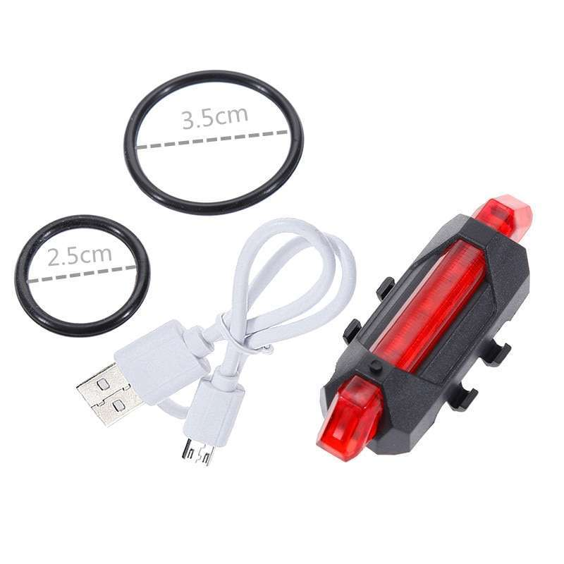 Zacro Bike Bicycle light LED Taillight Rear Tail Safety Warning Cycling Portable Light USB Style Rechargeable 3