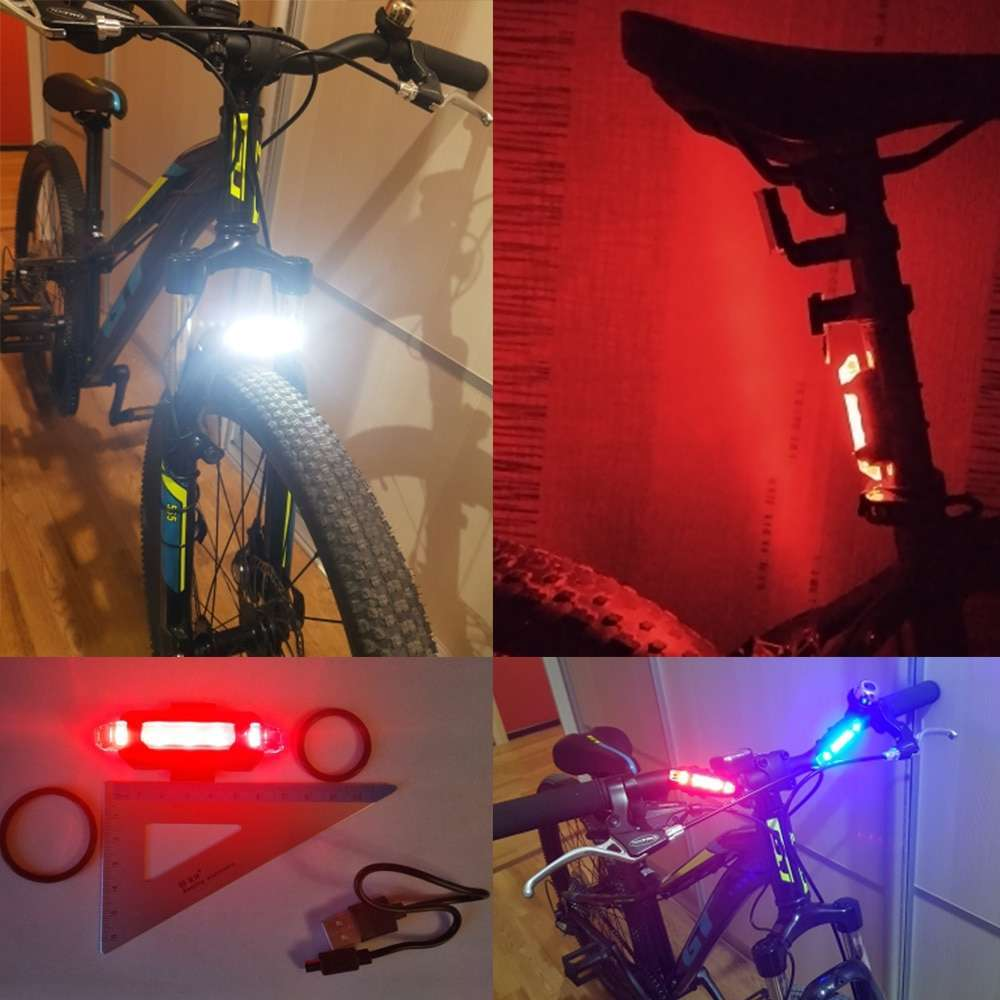 Zacro Bike Bicycle light LED Taillight Rear Tail Safety Warning Cycling Portable Light USB Style Rechargeable 5