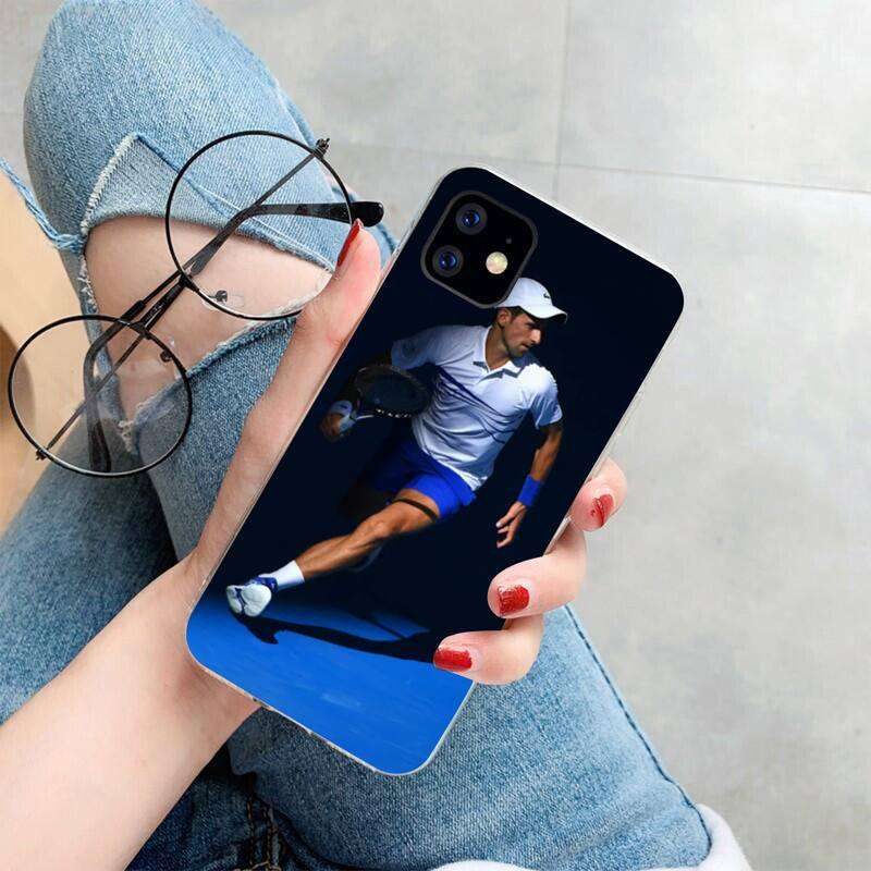 HPCHCJHM Novak Djokovic Cover Soft Shell Phone Case for iPhone 11 pro XS MAX 8 7 2