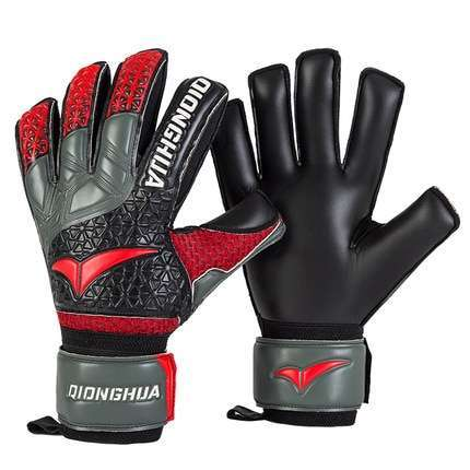 QH Professional goalkeeper gloves with Fingersave Protection rods soccer Latex football Goalie Gloves wholesale dropshiping 1