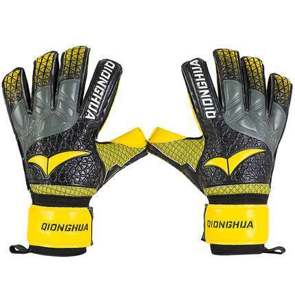 QH Professional goalkeeper gloves with Fingersave Protection rods soccer Latex football Goalie Gloves wholesale dropshiping 2