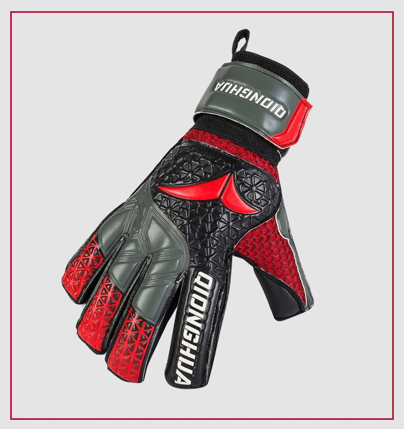 QH Professional goalkeeper gloves with Fingersave Protection rods soccer Latex football Goalie Gloves wholesale dropshiping 3