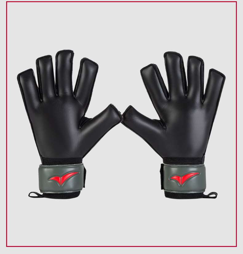 QH Professional goalkeeper gloves with Fingersave Protection rods soccer Latex football Goalie Gloves wholesale dropshiping 4