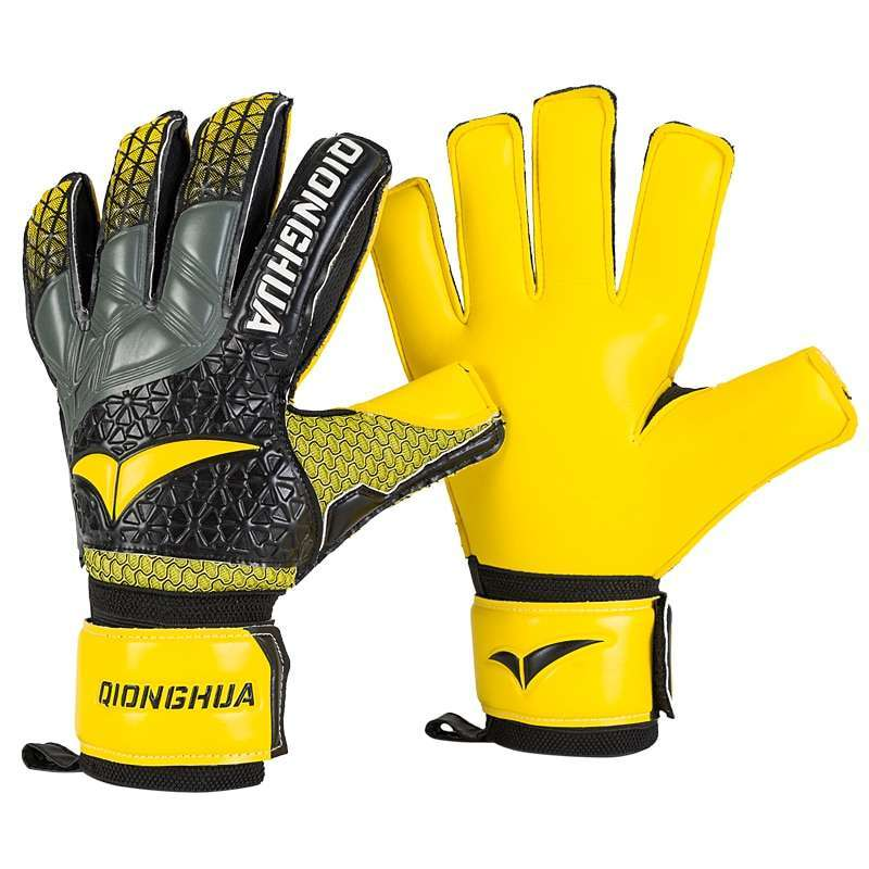 QH Professional goalkeeper gloves with Fingersave Protection rods soccer Latex football Goalie Gloves wholesale dropshiping 5