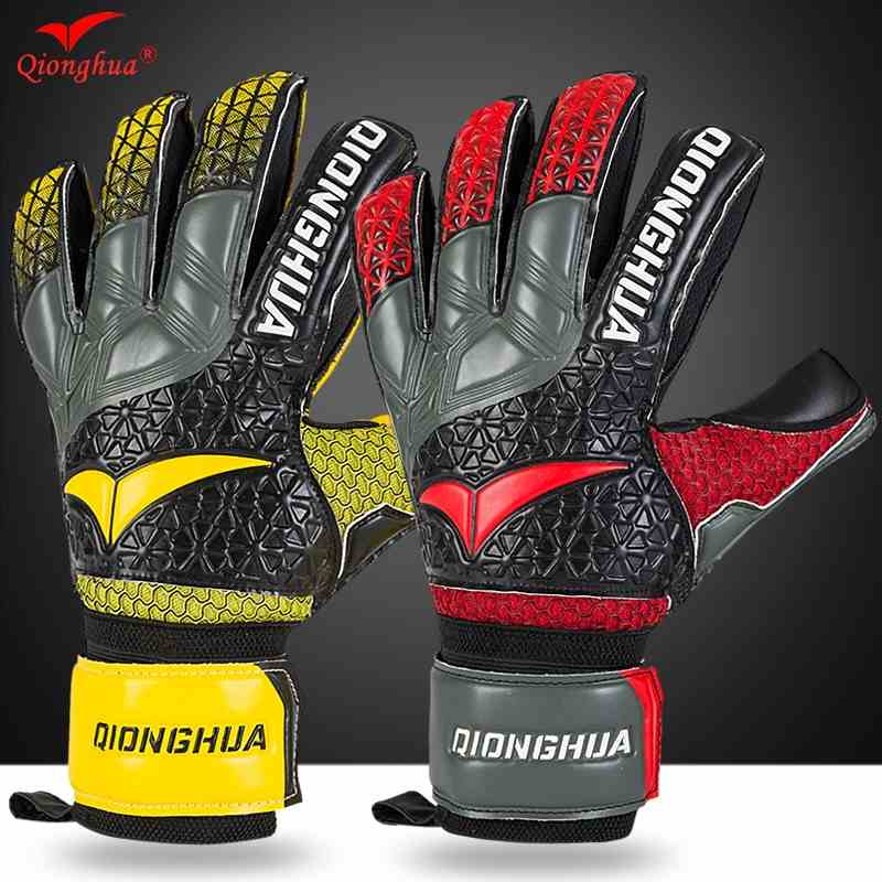 QH Professional goalkeeper gloves with Fingersave Protection rods soccer Latex football Goalie Gloves wholesale dropshiping