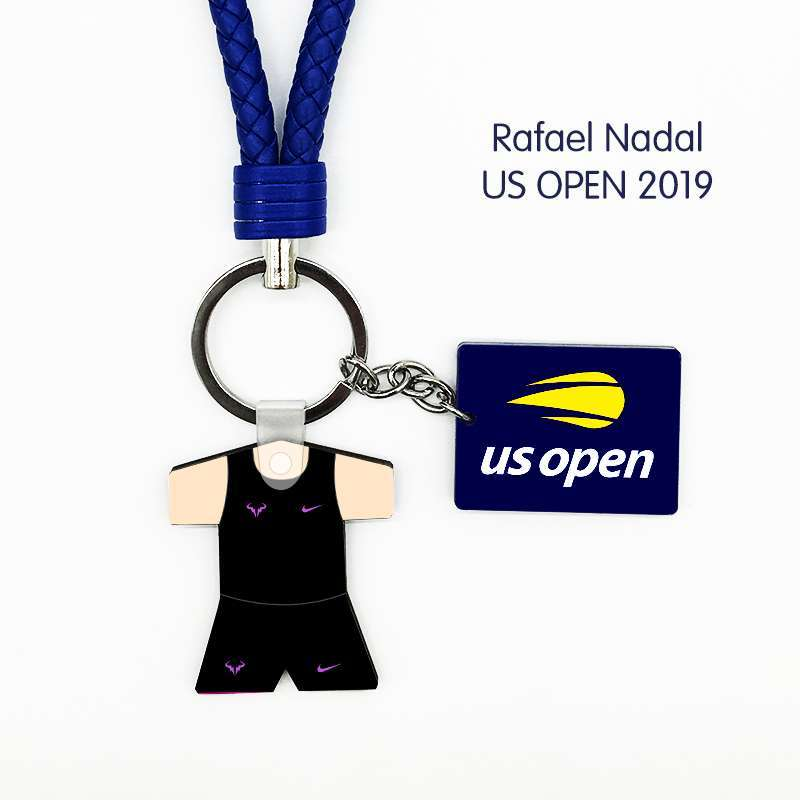 Limited Edition Rafael Nadal 2019 US Open 19 Crown Jersey Tennis Keychain