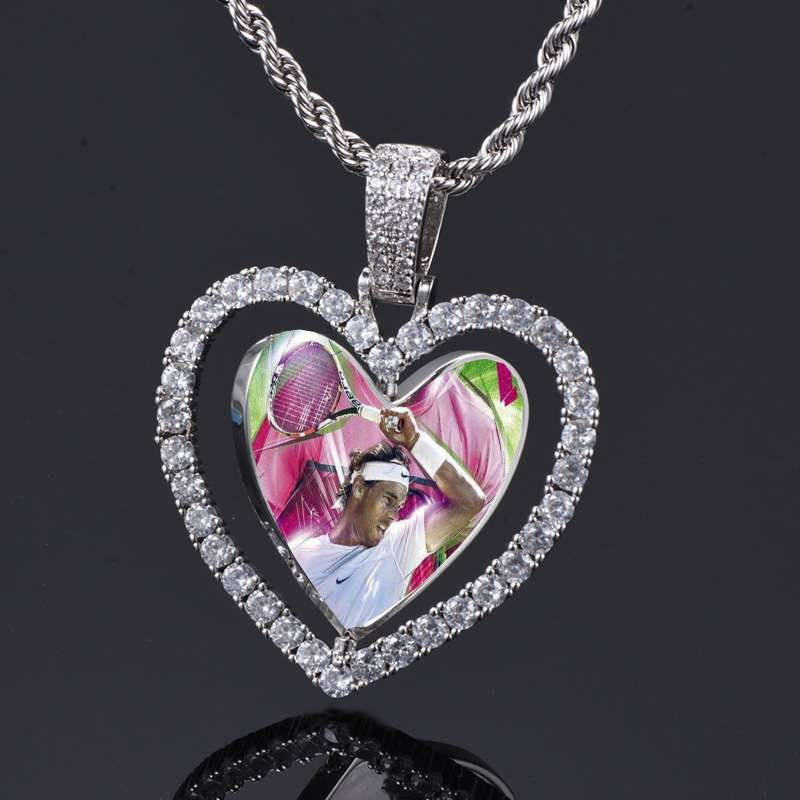 Rafael Nadal Heart Shaped Copper Necklace