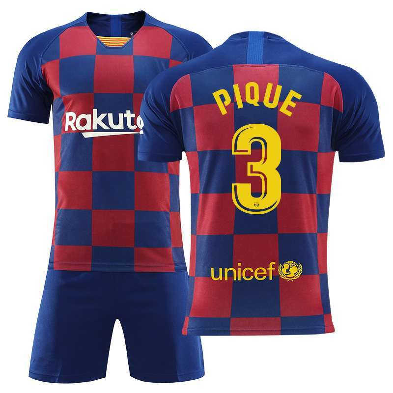 Pique N3 Barcelona Jerseys and Shorts Suits