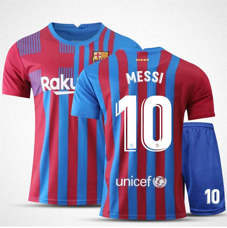 Messi 10 Barcelona Jersey and Shorts Suit